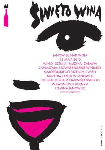 Festiwal wina, plakat reklamowy, 2010