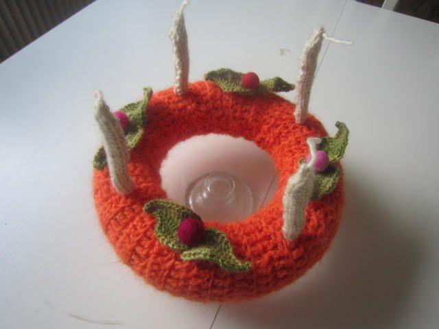 crocheted christmas wreath/adventskrans - hæklet -