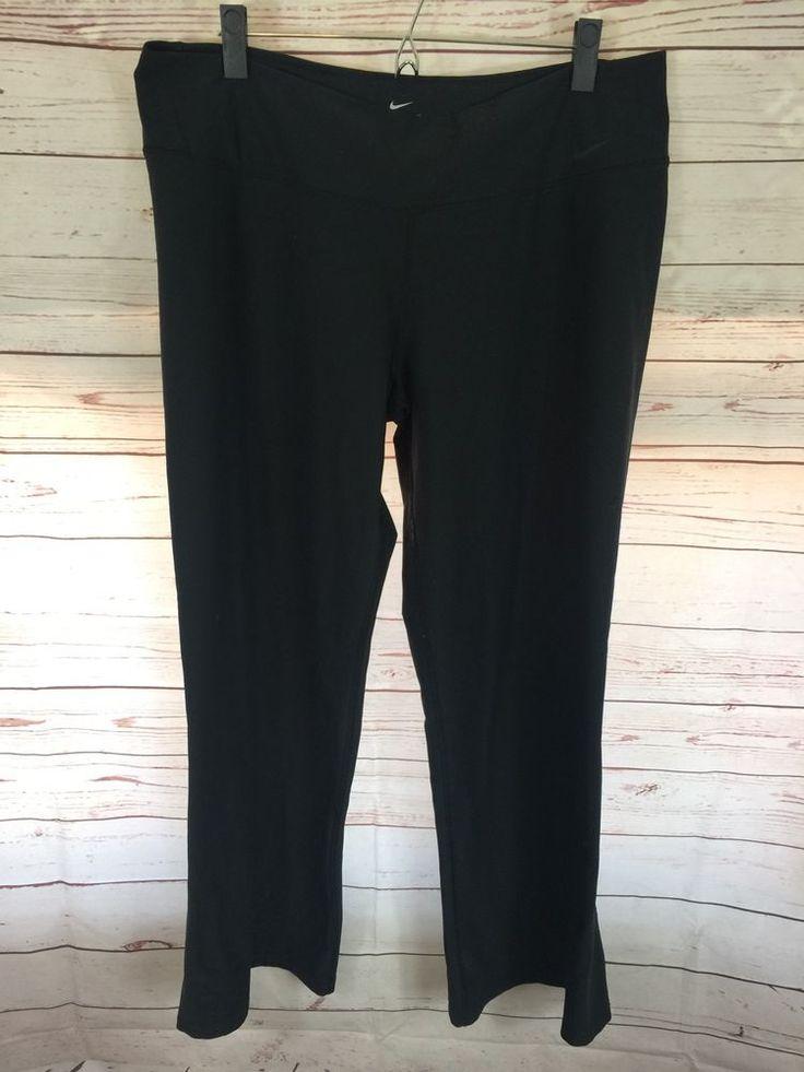 Nike Women's Dri Fit Legend Training Pants XL Black 440677 Yoga Running B10 | eBay