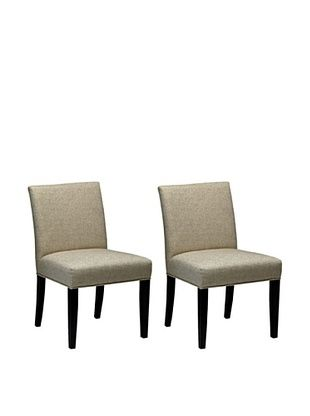 50% OFF Onyx Set of 2 Dayton Chairs, Vanilla