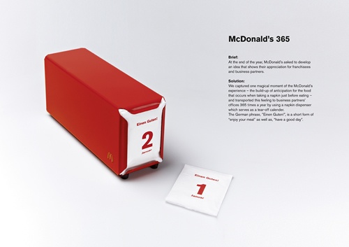 Mc-Do napkin Box