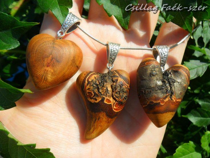 apricose wood pendants