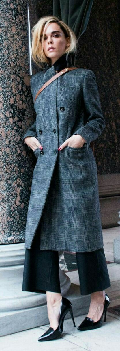 Love the coat, wide slacks, but who made the shoes?