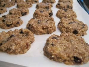Banana Oatmeal Cookies 003  Great for a treat while eating clean!
