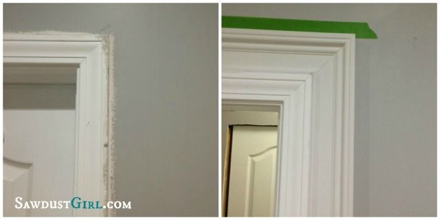 Layered door and window trim molding. chalk and paint so it looks like one massively thick piece of moulding