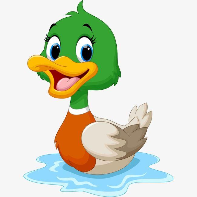البط في الماء رسوم متحركة تصوير الحيوان الحيوانات الكرتون Png وملف Psd للتحميل مجانا Comic Animal Cartoon Animals Animal Illustration