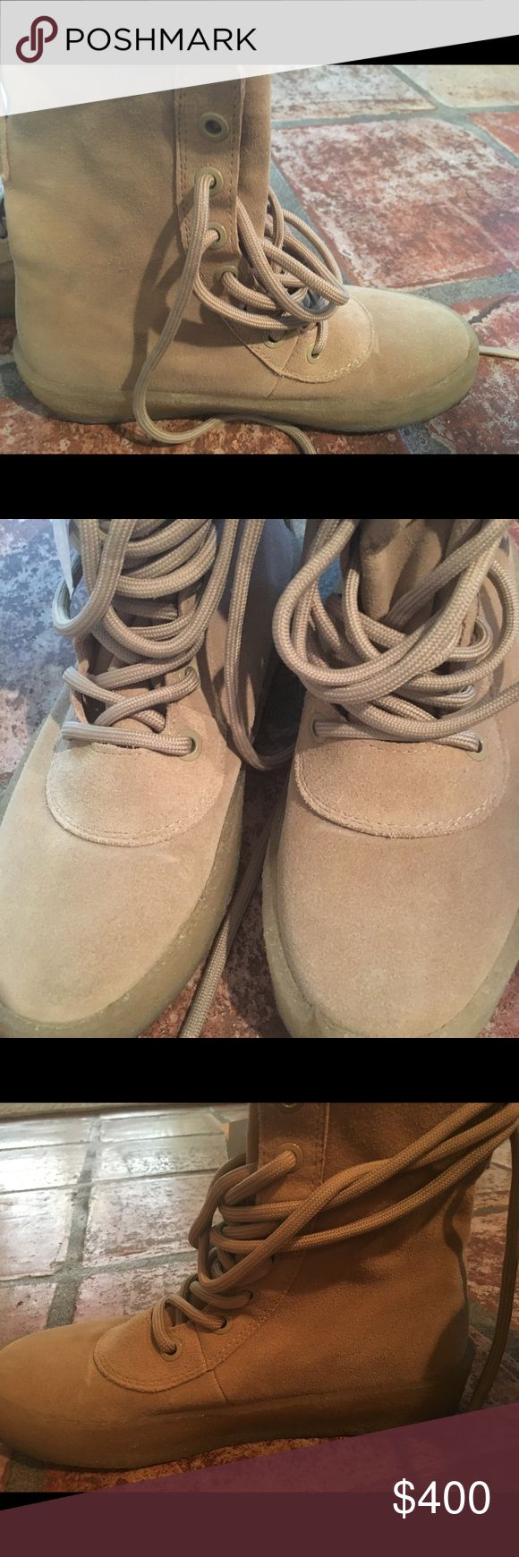 Yeezy Season 2 crepe military boot in camel suede. YEEZY season 2 crepe military boot. Yeezy Shoes Combat & Moto Boots