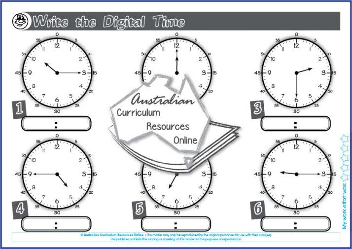 ACMMG039-Write the Digital Time