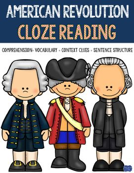 How do you know that your students are comprehending what they are reading about the American Revolution? Cloze reading is a way to assess that! I created social studies and science themed passages as a way to integrate reading comprehension unto my units!