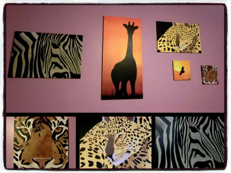 olio su tela ''La mia Africa''