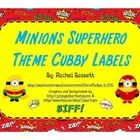 This set of Minion Superhero theme cubby labels would go perfectly with my other Minions Superhero themed items!   These labels don't have to just ...