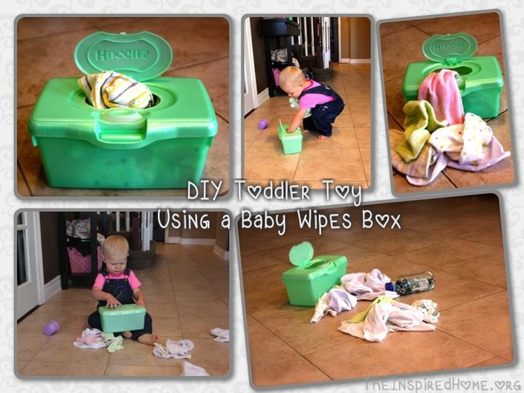 How to make a toddler toy using a baby wipes box! Costs nothing and I guarantee that you will have the items required kicking around your house. Best of all, it takes about 3 minutes to make.