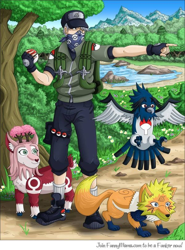 Kakashi is a pokemon trainer
