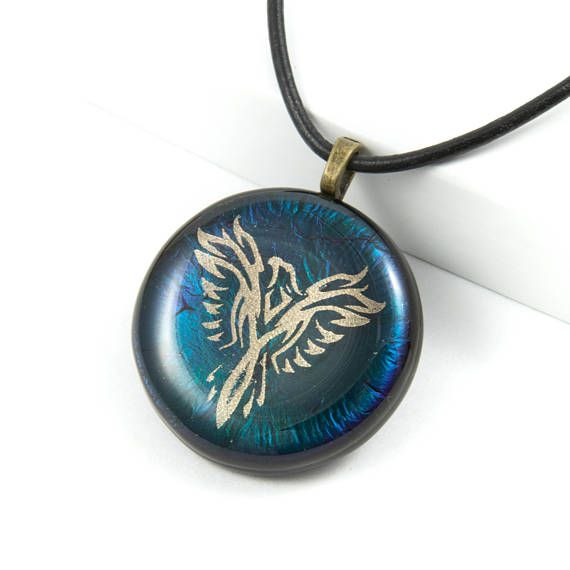 The phoenix is recognized in many cultures as a symbol of protection,   longevity and transformation making this a great necklace gift for   husbands, especially if you're looking for fantasy gift ideas. Born from   the ashes, the phoenix rises again to live on for eternity.