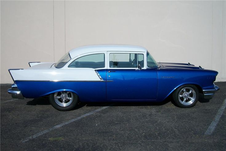 """The """"entry level"""" 1957 Chevy Model 150 can be a great platform for TriFive Customizers ...  The side chrome is similar to the 1955 Chevy Bel Air"""