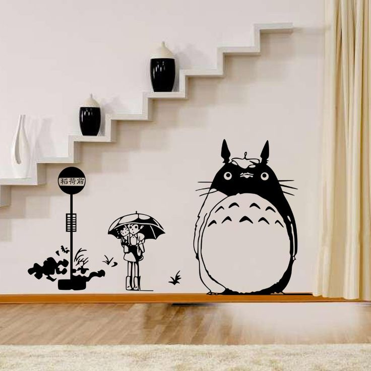 Childrenu0027s Room Decoration Sticker Wall Stickers Chinchillas TOTORO  Removable Wall Sticker DIY Home Decor