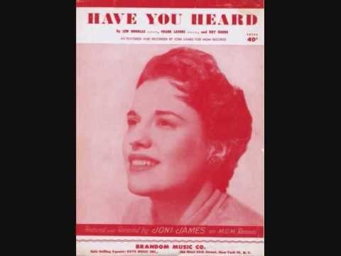 ▶ Joni James - Have You Heard (1953) - YouTube