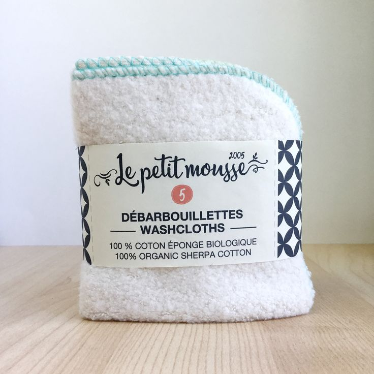 Organic cotton sherpa baby washcloths. Perfect for babies! www.lepetitmousse.com