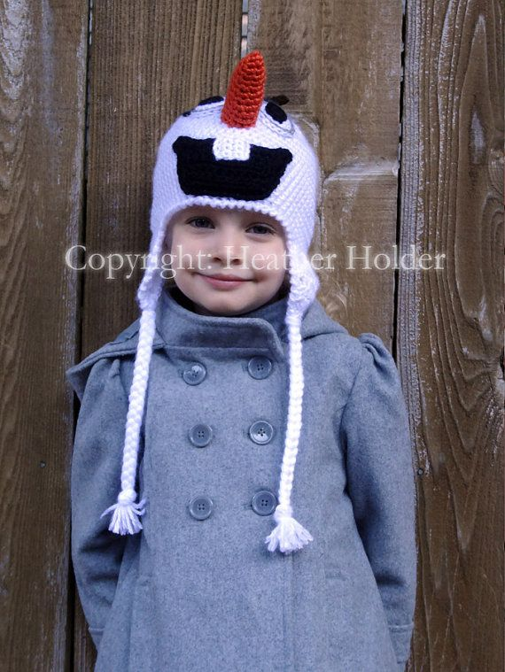 Olaf the Snowman Frozen Crocheted Hat Pattern  Instant by HHCrafts