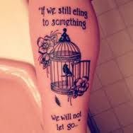 Image result for caged bird tattoo divorce