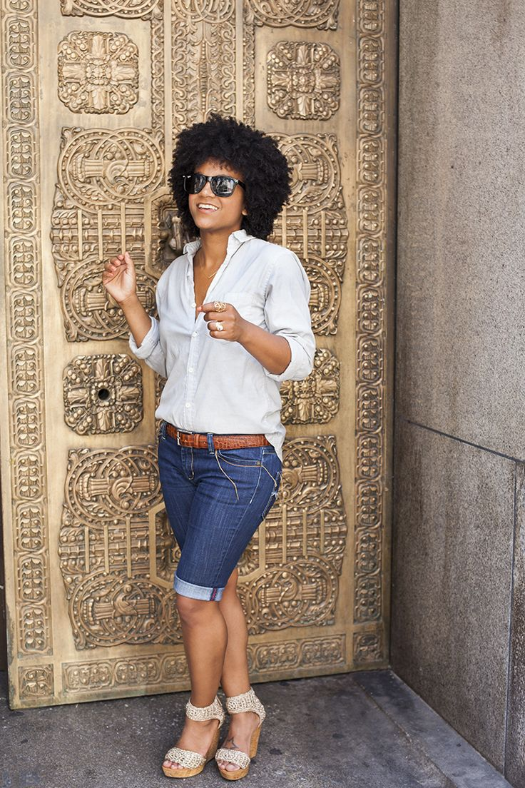 Chambray & Denim w/ wedges | The Tiny Closet