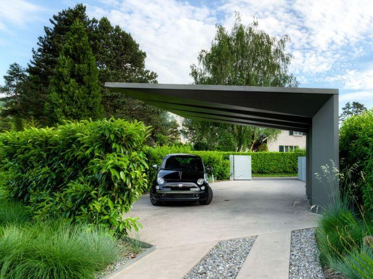 "Cool ""car shelter"" at 2LB House, Geneva, Switzerland by Raphaël Nussbaumer Architectes"