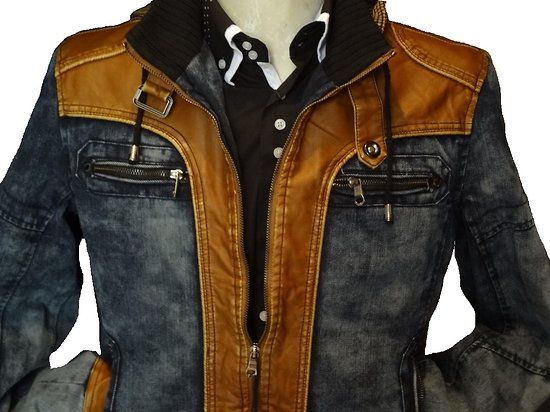 blouson homme camel jean's et cuir simili http://www.destockagevetementhommetendance.fr