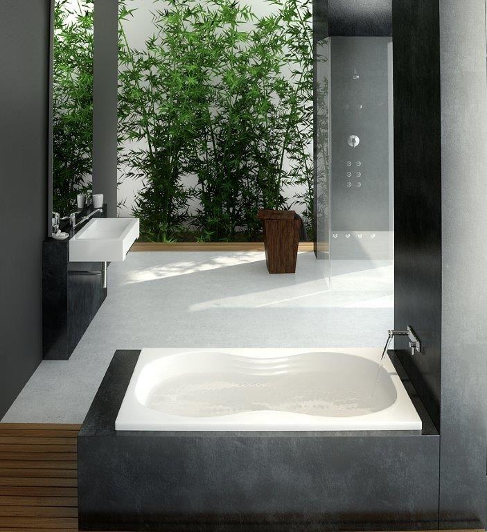 """The Allure Model 6032A - 60"""" Acrylic Bathtub"""