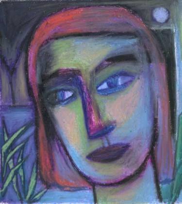 "Saatchi Art Artist Sonal Panse; Drawing, ""Blue Moon, Blue Mood"" #art"