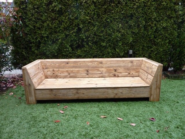 17 best images about loungebank on pinterest outdoor benches outdoor pallet and furniture ideas - Deco lounge hout ...