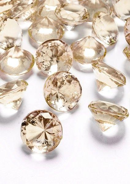 Konfetti diamentowe złote (100szt.)