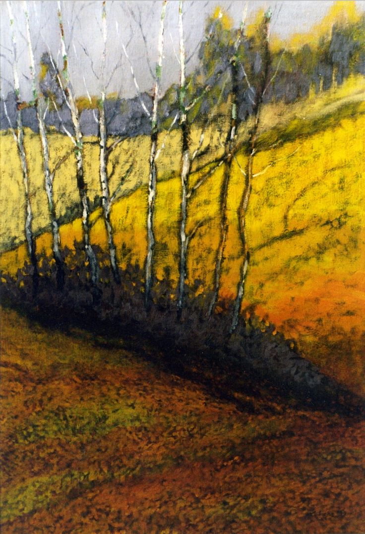 Birches in Lanckorona. Oil on canvas. Author: Witold Kubicha