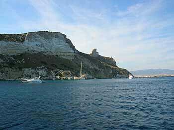Cagliari veduta della sella del diavolo da calamosca