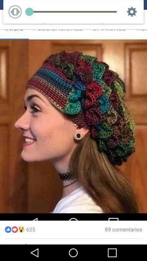 Crochet 3D Reversible Beanie I | tejidos | Pinterest | Sombreros de ...