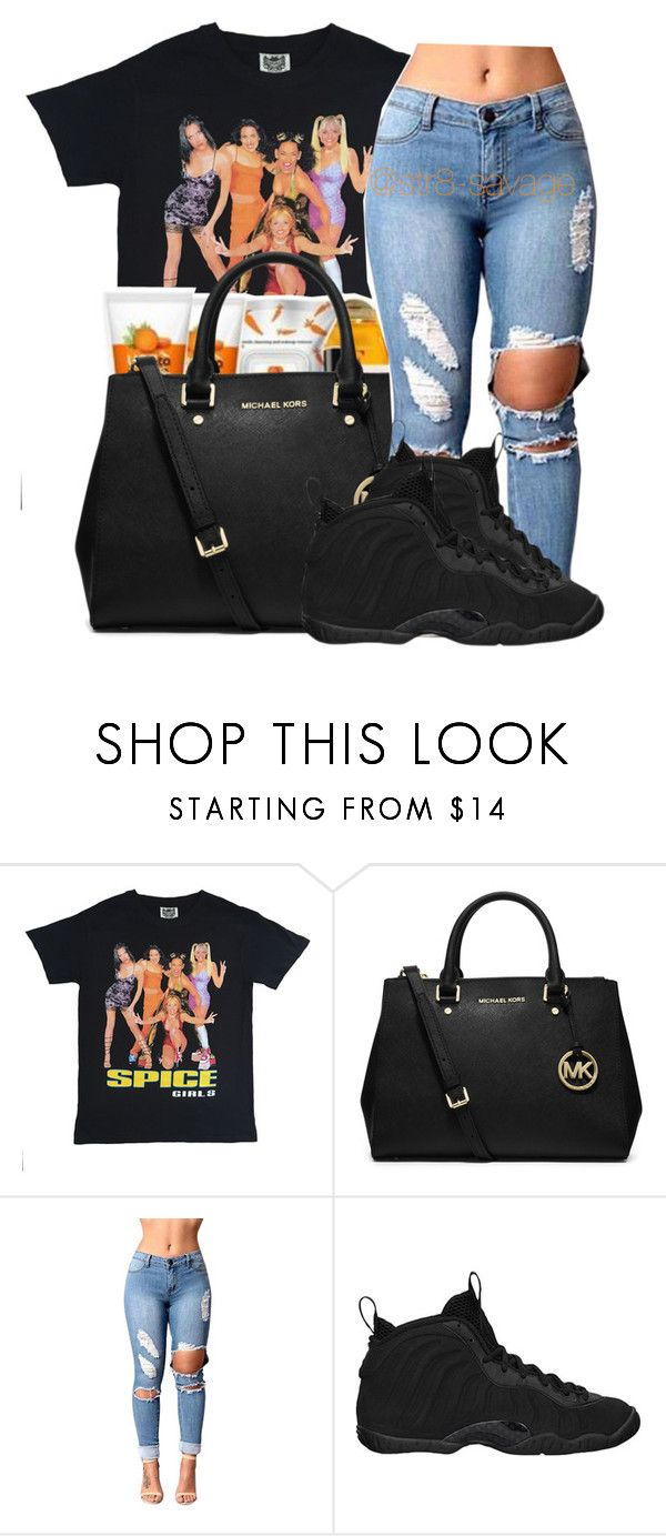 """""""Spice girls"""" by str8-savage ❤ liked on Polyvore featuring MICHAEL Michael Kors and NIKE"""