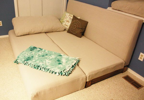 Couch that can instantly turn into a bed? The perfect addition to a studio apartment!