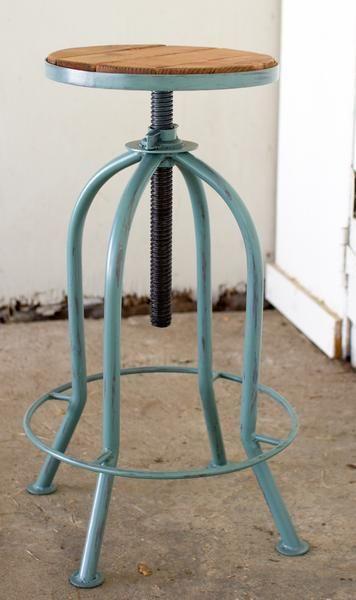 kalalou adjustable bar stool with recycled wood the kalalou adjustable bar stool with recycled wood