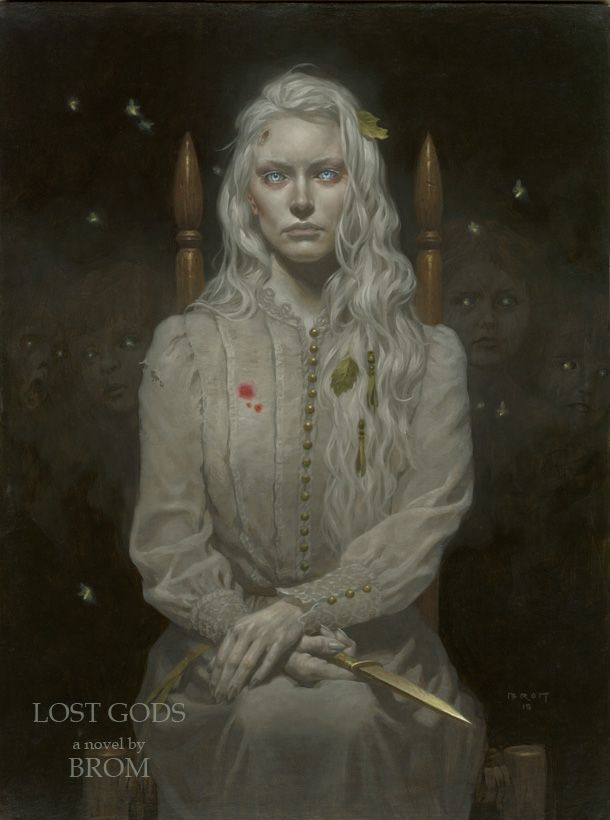 Violette, while working for a client, in the Spirit Plane - Blades in the Dark- ghosts - Brom Art