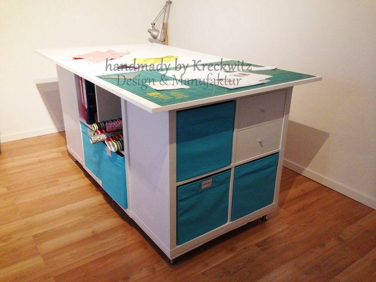 handmade by kreckwitz zuschneidetisch oder pimp my ikea sewing craft room schneidetische