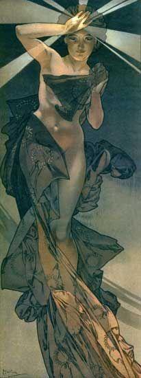 Morning Star - Alphonse Mucha  (my favorite artist - creator of Art Nouveau movement)