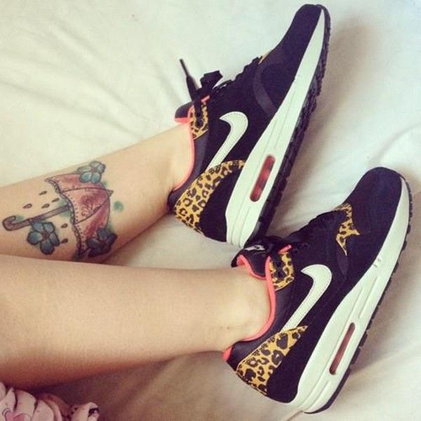 Shoes: nike leopard print nike air max