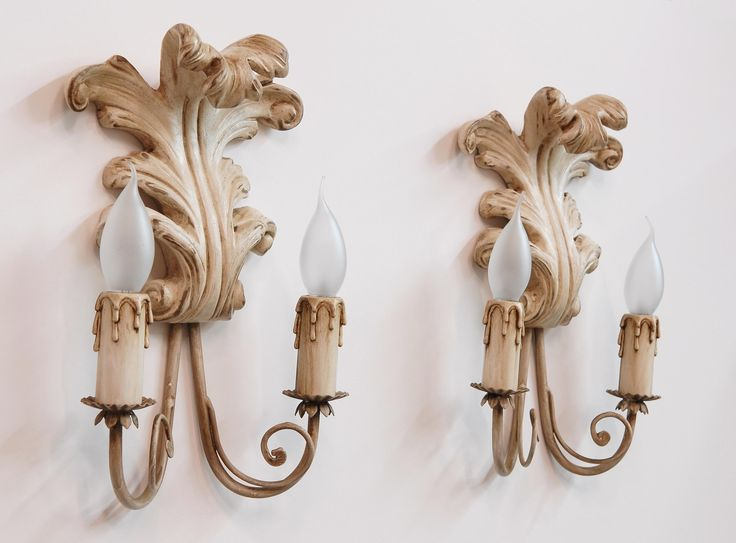 """""""FOGLIA"""" appliques.   Carved wood, laquered with natural pigments."""