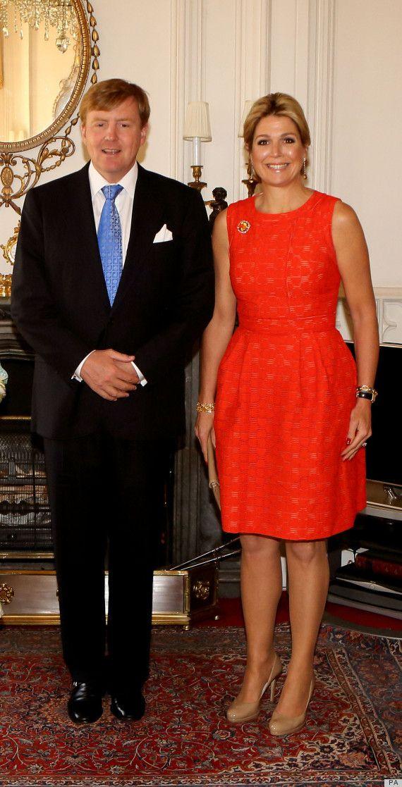 King Willem-Alexander and Queen Maxima of the Netherlands visit Queen Elizabeth II at Windsor Castle 7/10/13