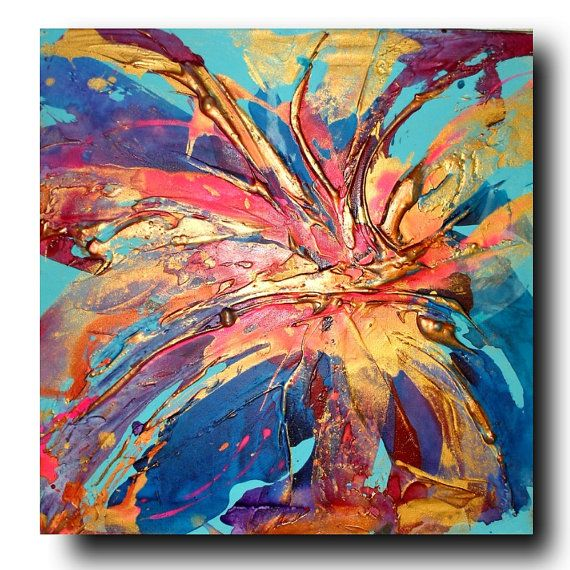 Arte original de la flor por Caroline por AffordableArtGallery