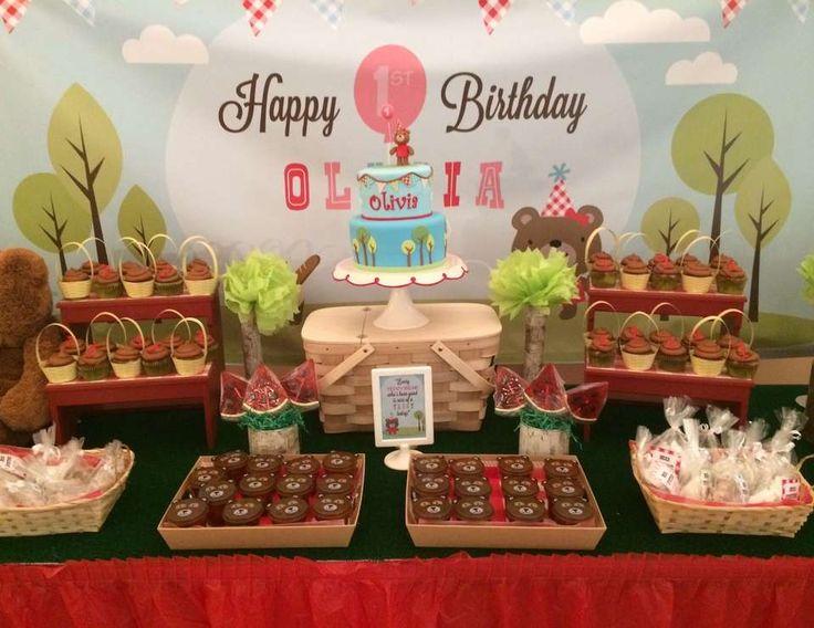Olivia's Teddy Bears' Picnic 1st Birthday Party - Teddy Bears Picnic