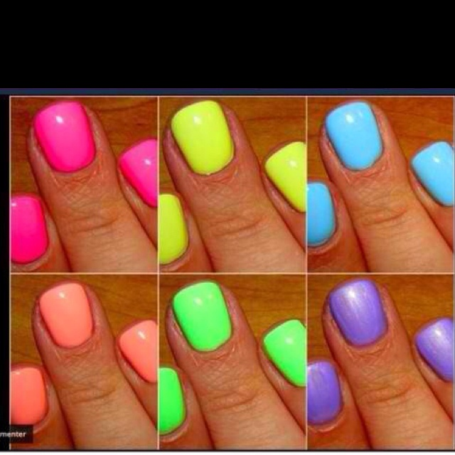 Summer colors! I want them all