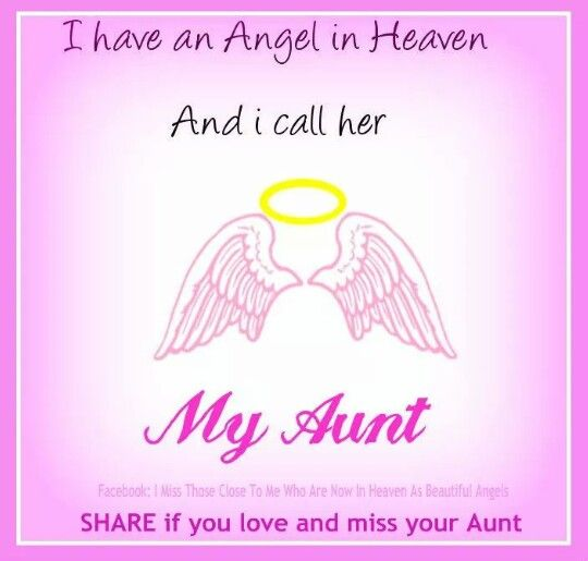 miss my aunt so much.. :/ | my loved ones in heaven :/ | Pinterest ...