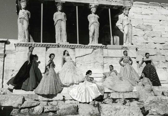 Christian Dior Athens Parthenon  1951