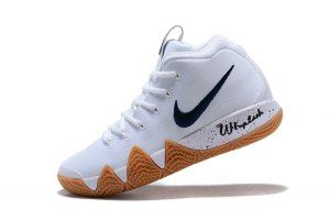 a3aa1f2d6944 Mens Nike Kyrie 4 Uncle Drew White Black Gum Basketball Shoes