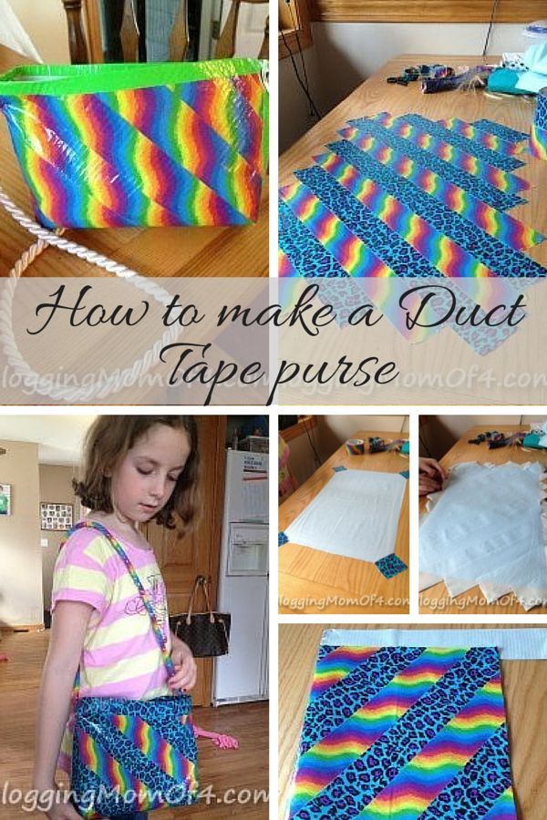 My girls have been wanting to try to make a Duct Tape purse. We had a couple of rolls of Duct Tape so we set out to make our first purse! I took pictures along the way so you could follow along with me and make your own Duct Tape purse.